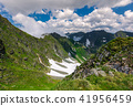 mountain, valley, snow 41956459