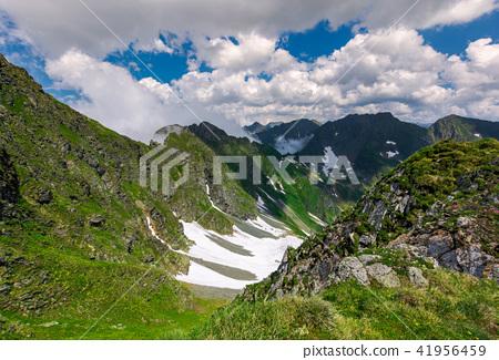 cliffs in the valley of Fagaras mountains 41956459