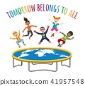 Trampoline jumping children 41957548