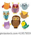 owl vector collection design 41957859