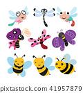 蜻蜓 蝴蝶 蜜蜂 41957879