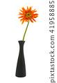 single gerbera  flower yellow on vase isolated 41958885
