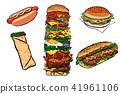 food, sandwich, hamburger 41961106