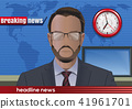 Breaking news with bearded man 41961701