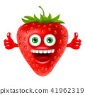 strawberry, red, cheerful 41962319