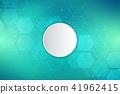 vector, round, hexagons 41962415