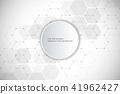 vector, round, hexagons 41962427