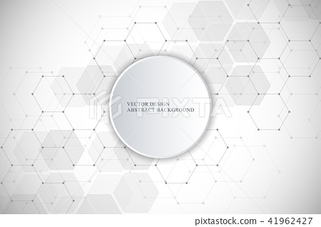 Vector medical background from hexagons. Geometric elements of design for modern communications 41962427