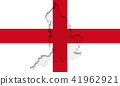 Silhouette of England in civil and state flag 41962921