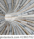 Wood textured tunnel 41963702