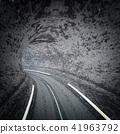 Abstract road tunnel 41963792
