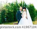 照片婚礼婚姻新娘和新郎 41967104