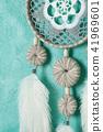 Dream catcher on aquamarine 41969601