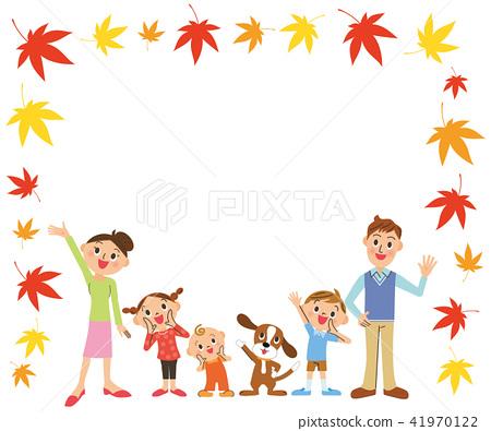 家庭和秋葉框架 41970122