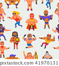 Wrestler vector masked man character and masking luchador in wrestling fight illustration set of 41970131
