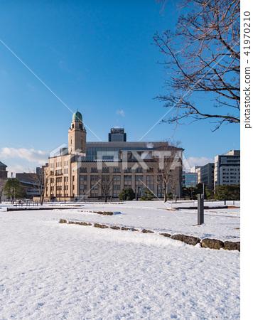 Yokohama City Kanagawa Prefecture Minatomirai snow scene 41970210