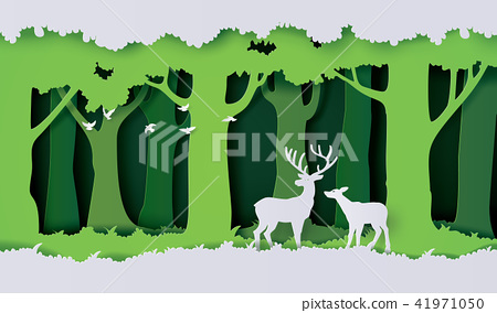 deers in the forest. 41971050