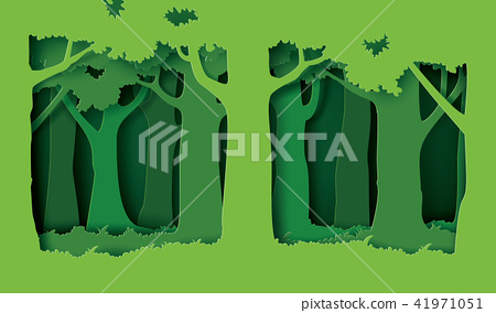 forest with trees and grass. 41971051