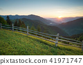 mountain, sunset, meadow 41971747