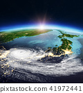 Japan weather map. 3d rendering 41972441