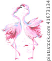pink vector flamingos 41973134