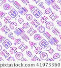 Measuring seamless pattern with thin line icons 41973360