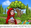 Little Red Riding Hood Cartoon Fairy Tale Scene 41974112
