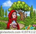 Little Red Riding Hood Cartoon Fairy Tale Scene 41974112