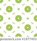 Seamless pattern with kiwi slices. For kitchen textile, wrapping paper, greeting cards and party 41977403