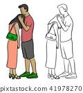 man comforting his sad lover vector illustration 41978270