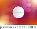 vector, round, hexagons 41978831