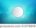 vector, round, hexagons 41978846