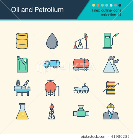 Oil and Petrolium icons.  41980283