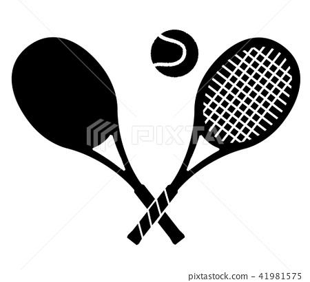 Tennis racket and ball 41981575
