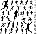 runners silhouettes collection 41983051