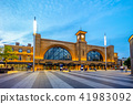 night view of king cross station in london, uk 41983092