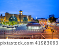 night view of king cross station in london, uk 41983093