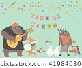 band, vector, animal 41984030