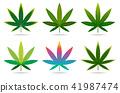 A set of cannabis icons, Marijuana leaves. 41987474