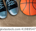 Sport sneakers and basket ball. 41989547