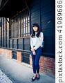 亚洲台湾台南新化大目降文化园区女性女人模特儿龙猫人像肖像 41989686