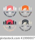 Summer camp badge logo vector illustration. 41990007