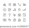 Simple Set of Delivery vector thin line icons 41990037