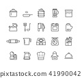 Simple Set of Kitchen vector thin line icons 41990042