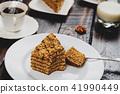 Dessert honey cake 41990449