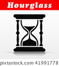 black hourglass vector icon design 41991778