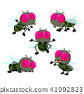 collection of cute little cartoon flies 41992823