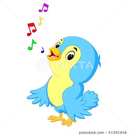 Cute Bird Cartoon Stock Illustration 41992848 Pixta