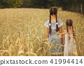 young girl in the yellow field 41994414