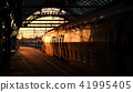 Train in sunset in station in Amsterdam 41995405